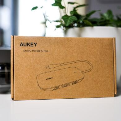 boîte du produit AUKEY USB C Hub 8 en 1